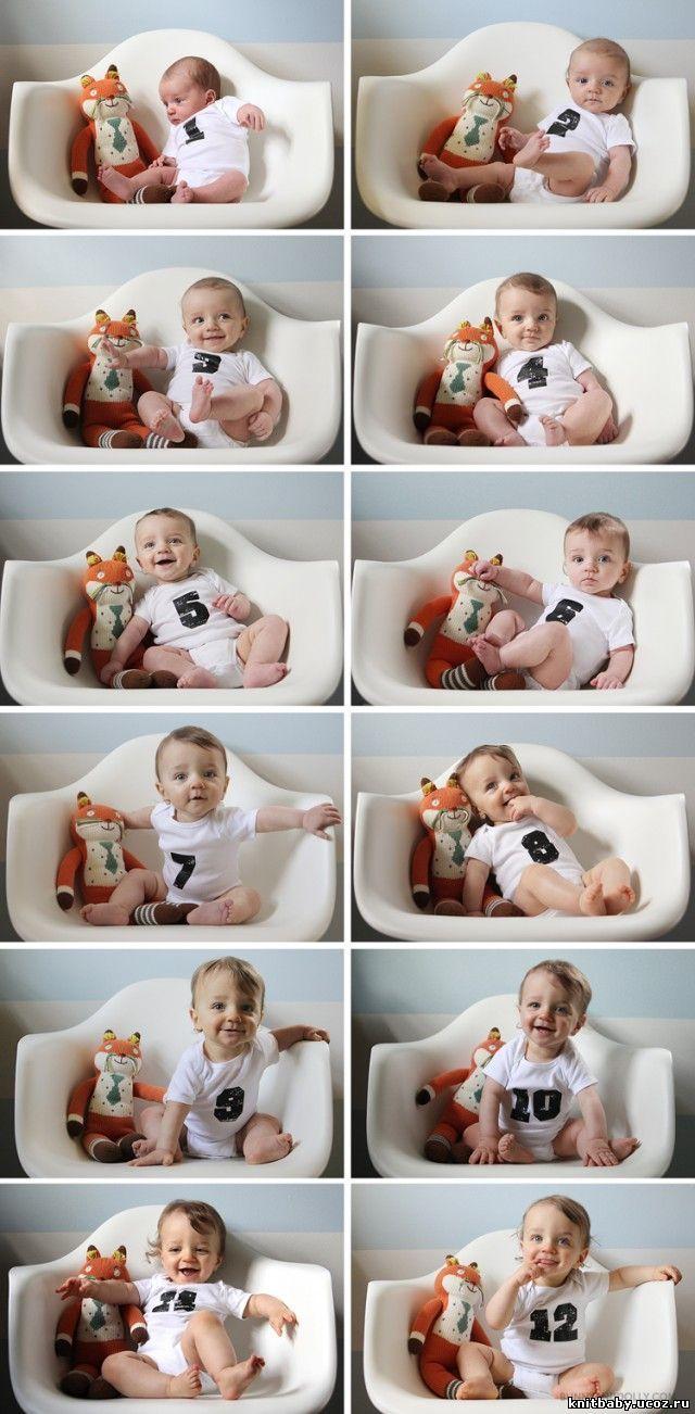 Идеи фото малышей по месяцам