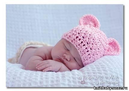 Детские вязаные шапки. Форум полимерной глины. Мастераполимернойглины.рф