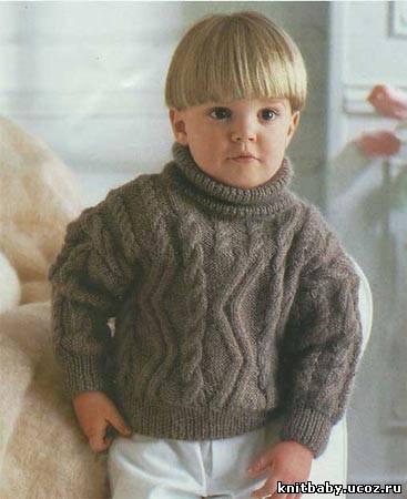 Свитер с косами на двухлетнего